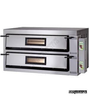 Horno pizza digital doble 8 -Ø36 12000W ASHOR107