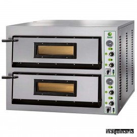 Horno pizza doble 8 - Ø36 12000W ASHOR100