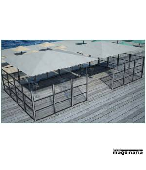 Biombo aluminio-PVC separador CVSEPP150PVCC