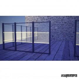 Biombo aluminio-PVC iluminable LED CVSEPP100PVCCL