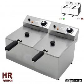Freidora Semi industrial 6 + 6 litros HRFD6L6L