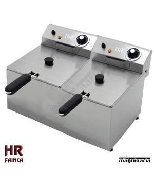Freidora Semi industrial HRFD9L9LF alto rendimiento - 9+9 litros