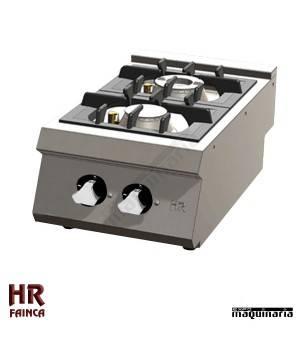 Cocina industrial de sobremesa 2 fuegos HRC2F750S