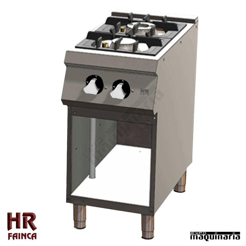 cocina industrial de 2 fuegos hrc2f750e estante