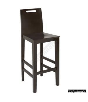 Taburete 28 madera de haya con respaldo asiento madera