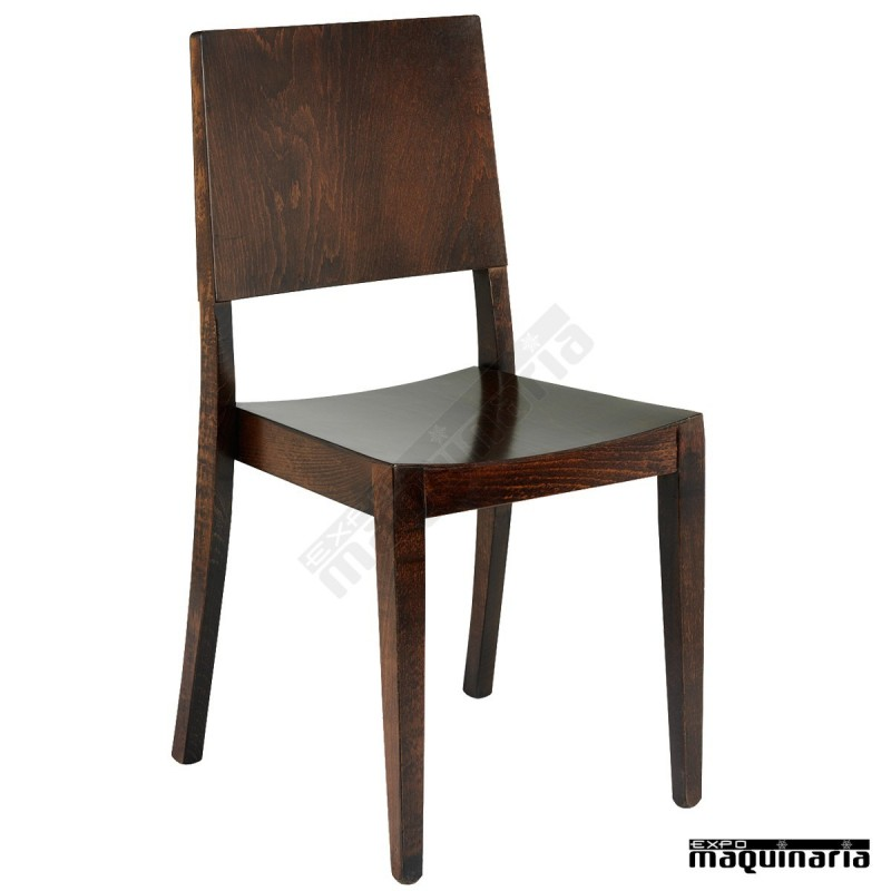 Silla de madera para hosteleria 3r7 apilable for Fabricantes sillas modernas