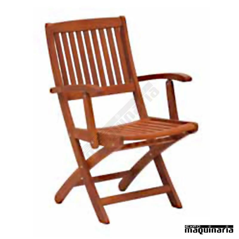 Sill n plegable y terraza de madera de balau for Sillon terraza madera