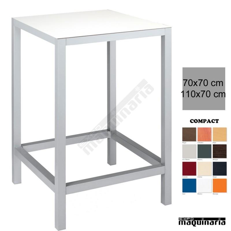Mesa alta bar aluminio 4r50co de hosteler a - Mesas altas para bar ...