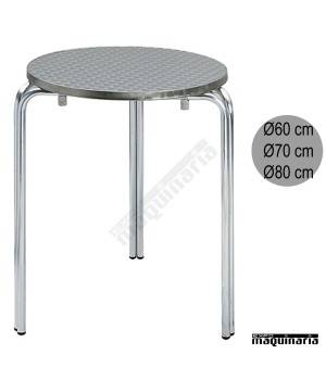 Mesa aluminio 3R81 terraza redonda