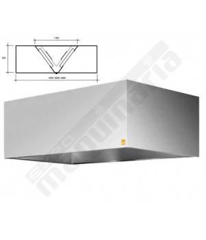 Campanas Reversibles central 1200 cm largo