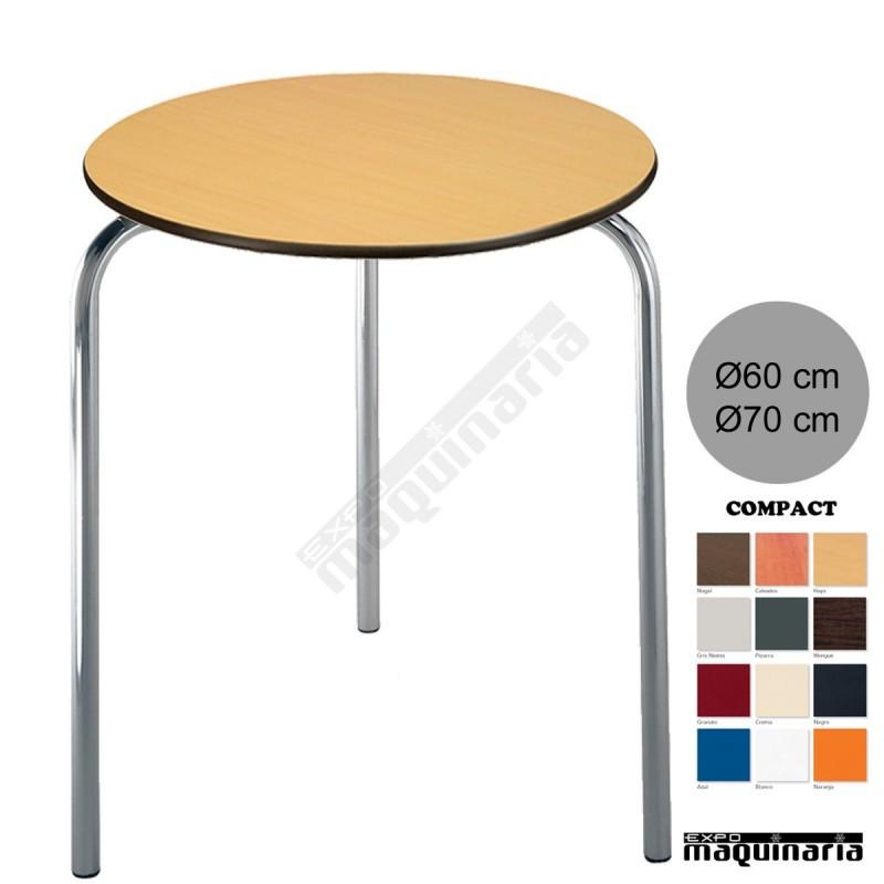 Mesa de terraza 3r80cor con tablero redondo for Tablero redondo para mesa