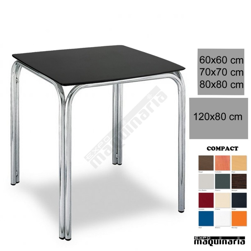 Mesa terraza hosteleria 3r82co apilable for Mesas para terraza