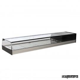 Vitrina refrigerada parrillas cristal recto VGR200i
