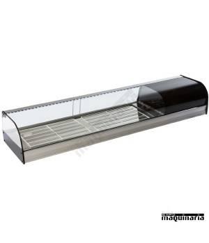 Vitrina refrigerada cristal curvo parrillas VGFR150i