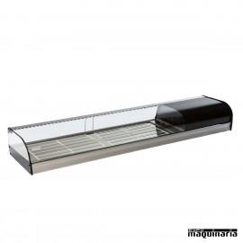 Vitrina refrigerada parrillas cristal curvo VGFR200i