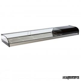 Vitrina refrigerada parrillas líneas curvas VGFR250i