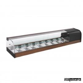 Vitrina refrigerada bandejas doble cristal curvo VGFR8iE