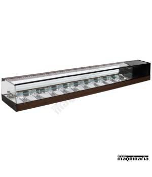 Vitrina refrigerada bandejas cristal recto VGR10iE