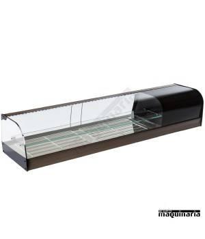 Vitrina refrigerada doble parrillas cristal curvo VGFR200iE