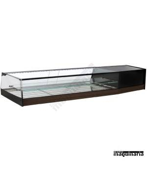 Vitrina doble fría parrillas cristal recto VGR250iE