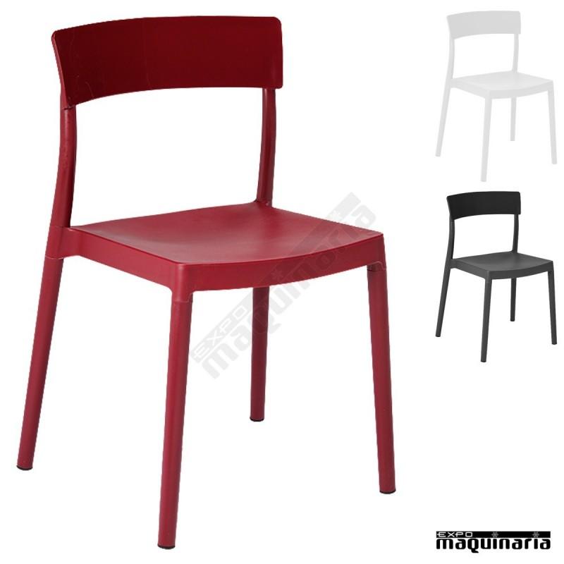 silla para terraza resina 1r665 de hosteler a