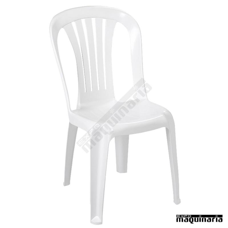 silla resina terraza 1r160 monobloc apilable ocupa poco