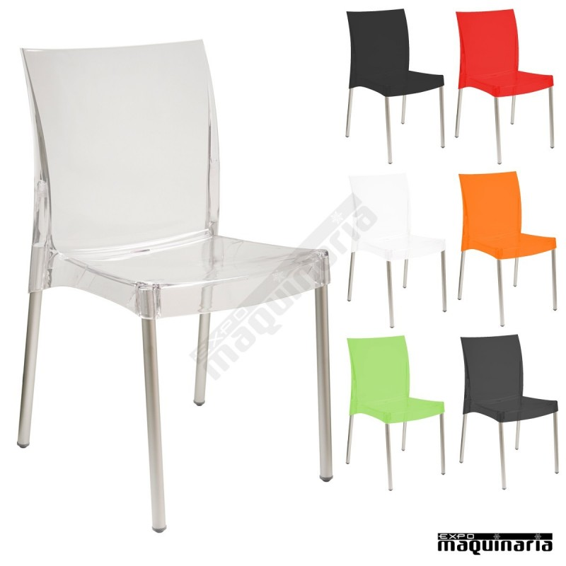 Silla apilable transparente mrnicole for Silla transparente