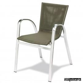 Sillón apilable terraza 2R655 asiento textil