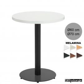 Mesa bar redonda melamina 3R027