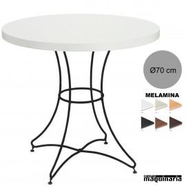 Mesa redonda melamina 3R004MER hosteleria