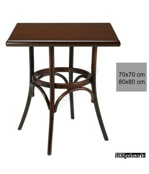 Mesa bar madera haya 4R8C cuadrada