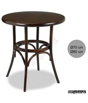Mesa redonda bar madera haya 4R8R