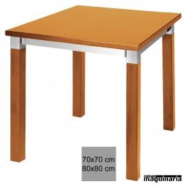 Mobiliario de hosteleria mesas de madera expomaquinaria for Mesa 70x70 madera