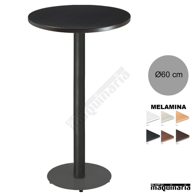 Mesa redonda 3r028me alta bar tablero melamina - Mesas altas bar ...