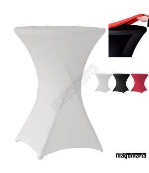 Conjunto de mesa plegable 80 cm con mantel Strech ZOCOCKTAIL80