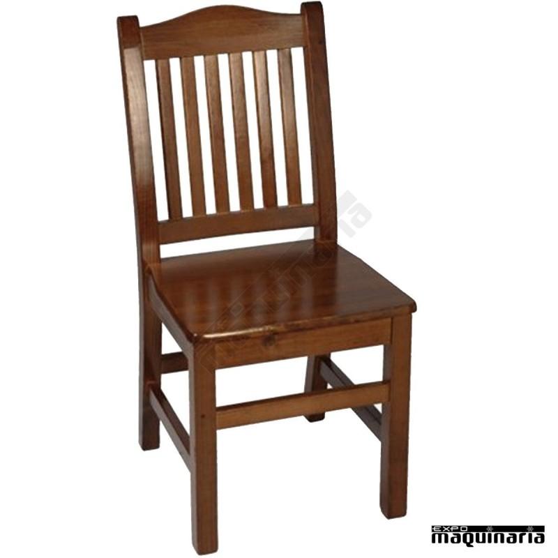 Silla 1f491 de madera de pino para interior for Catalogo de sillas de madera