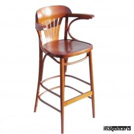 Taburete bar FACASINO-T-RB de madera.