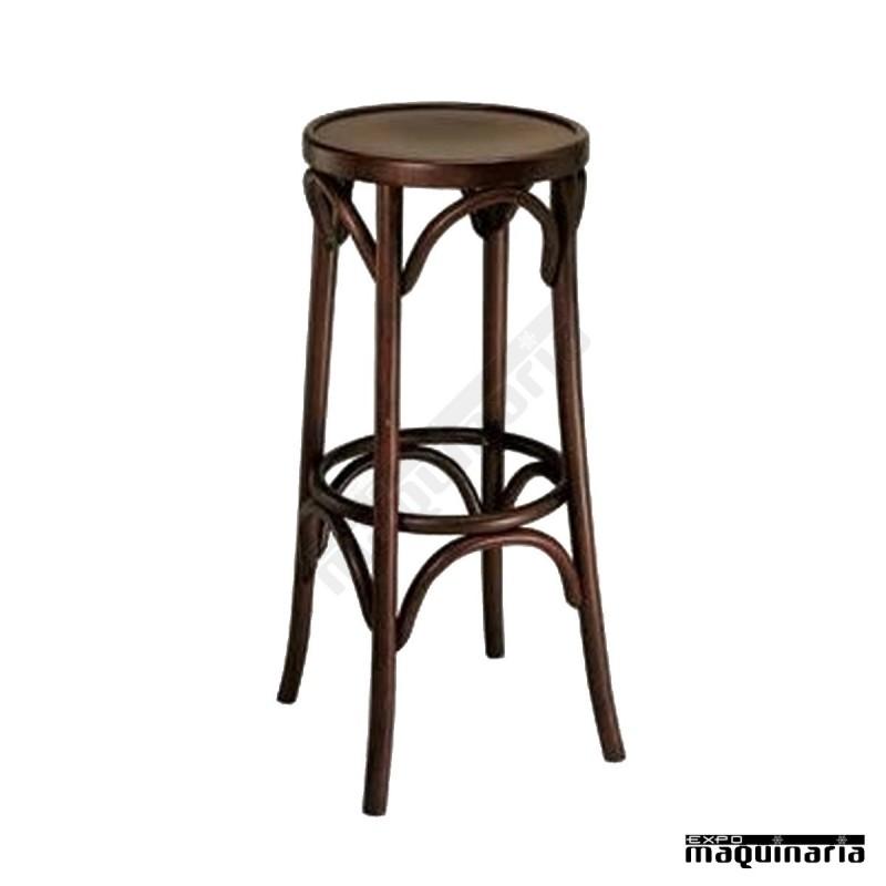 Taburete bar FACASINO-T de madera de haya taburete alto ikea