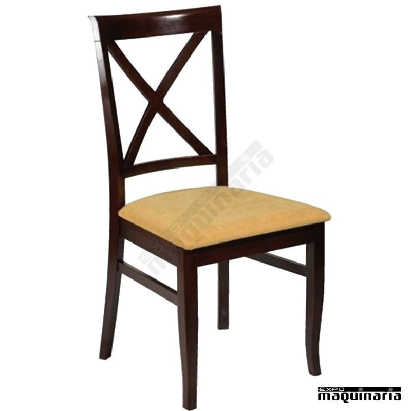 Silla 1f562 de madera de haya y asiento tapizado - Sillas provenzal tapizadas ...