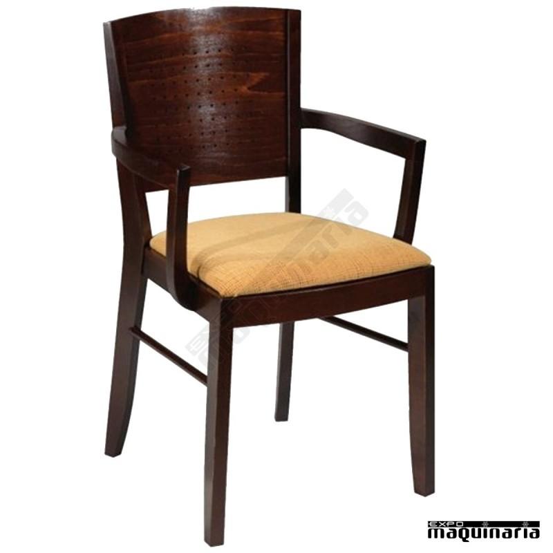 Sillon madera hosteleria faliverpool tapizado para interior - Precios de tapizados de sillones ...