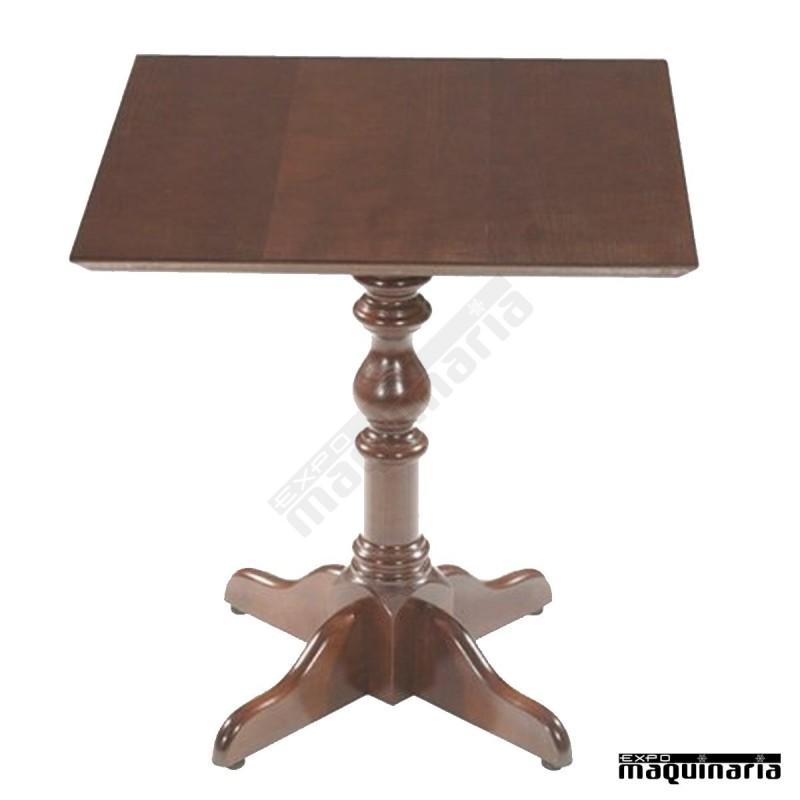 Mesa de madera cuadrada fasevilla cuadrada mesa de madera for Mesa 70x70 madera