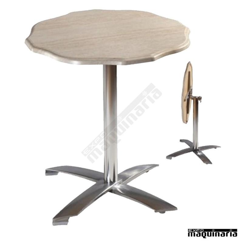 Mesa aluminio para terraza fapisa4 r redonda para bares y - Mesa para terraza ...