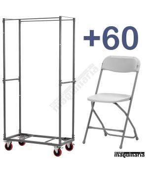 Conjunto de 60 sillas+carro