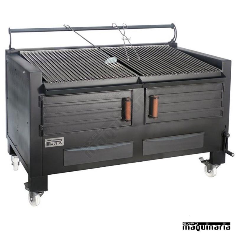 Barbacoa carbon hierro fundido arbbq multif barbacoa for Cocinas de hierro fundido
