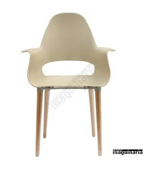 Silla con brazos hosteleria DL632 color beige