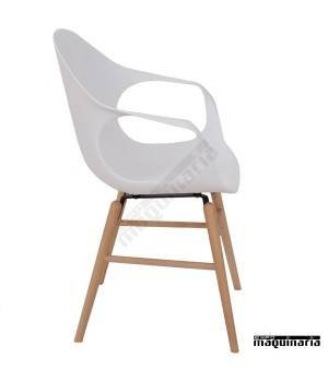 Silla con brazos hosteleria DL803 color blanco