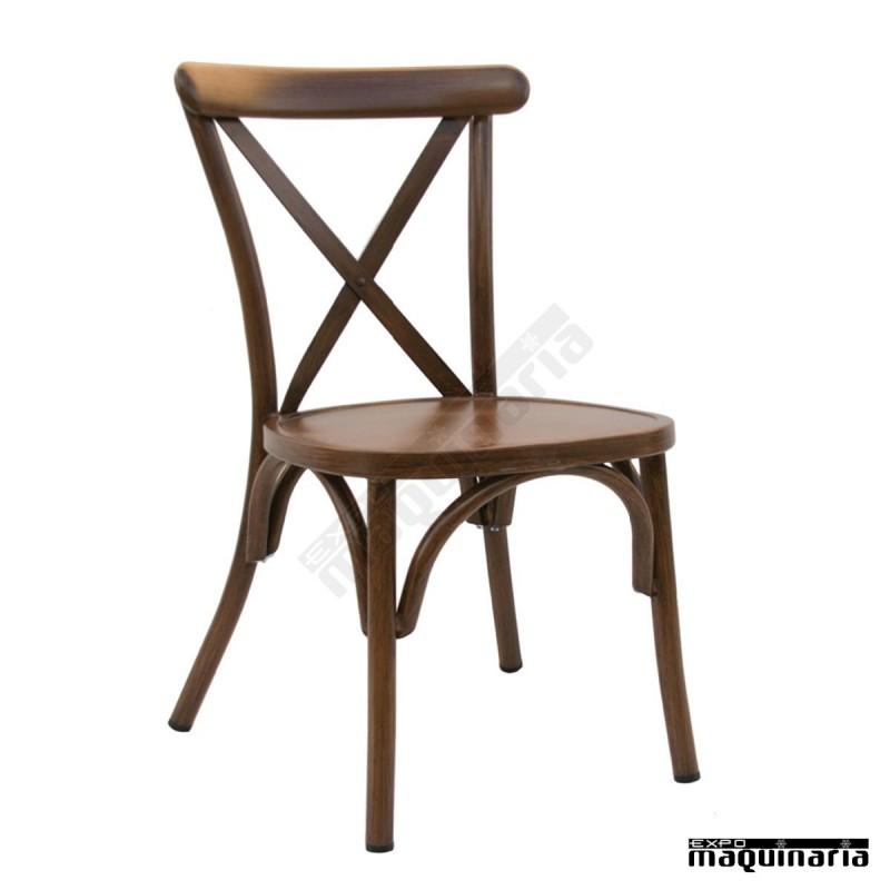 Silla vintage alumimio dlolimpic sillas de bar sillas de - Sillas vintage madera ...
