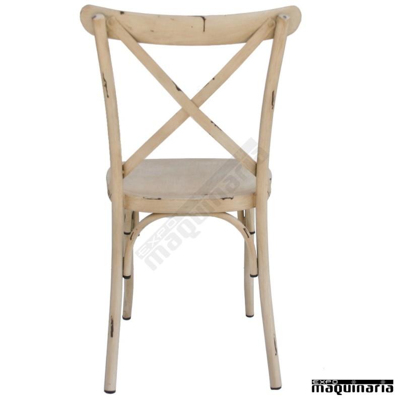 Silla vintage acero dlbrigantique sillas de bar sillas de - Sillas para terraza de bar ...
