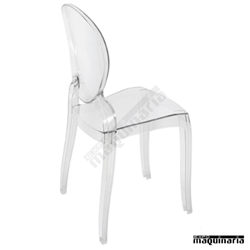 silla transparente dlmonalisa silla transparente dlmonalisa perfil - Sillas Transparentes Baratas