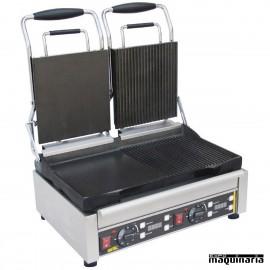 Grill plancha doble con temporizador NIL555 izquierda lisa